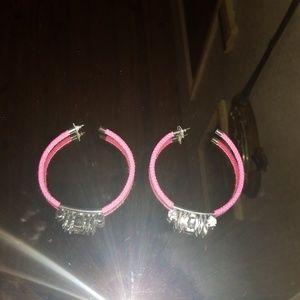 Noir neon crystal earrings